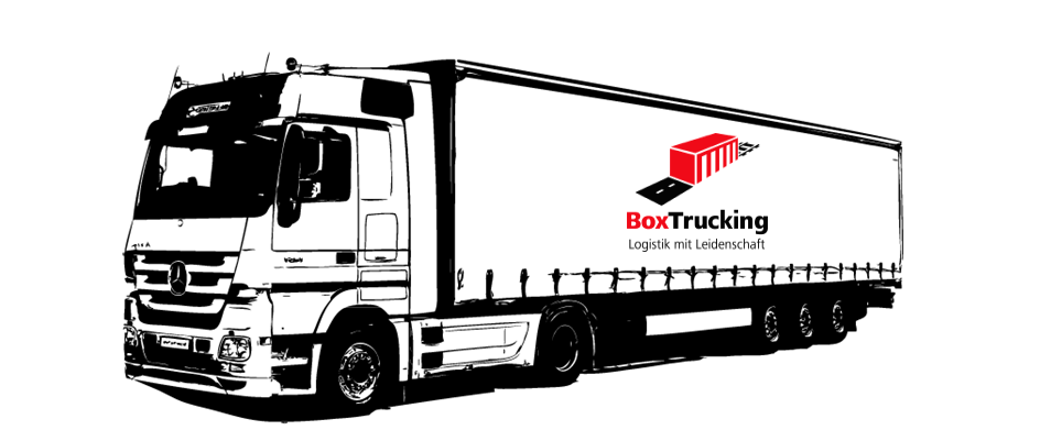 LKW mit BoxTrucking Logo